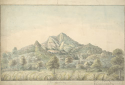 f.17   'Mahatin Dey.  Ensign J.T. Blunt, Bengal Engineers fecit.  Vide Asiatic Annual Register.  A.D. 1800.  Miscellaneous Tracts, p.128' (espy. p.154).  Rocky landscape.